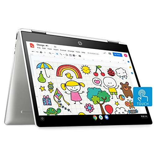 (Renewed) HP Chromebook 12b-ca0006TU x360 Thin and Light Touchscreen 12-inch Laptop (4GB/64GB eMMC SSD + 100GB Cloud Storage/Chrome OS/Intel UHD Graphics), Natural Silver