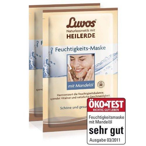 Luvos Feuchtigkeits-Maske mit Mandelöl (2er Pack) - Creme Maske im Sachet (4x7,5 ml)
