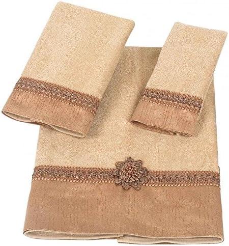 Limited time cheap Outlet SALE sale Avanti Linens Braided Medallion Multi Gold Piece On Set 3 Towel