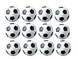 Sunreek - Juego de 12 balones de fútbol para mesa, color negro y blanco