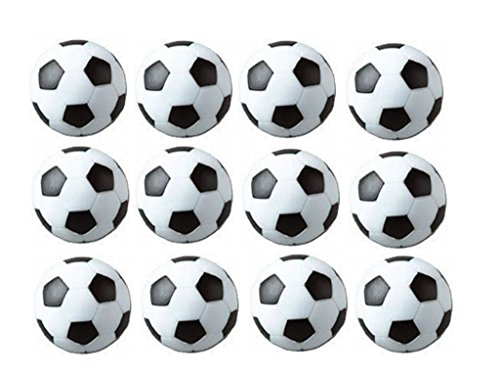 SUNREEK Tischfußball Foosballs Replacements Mini schwarz und weiß Fußbälle - Set von 12 (schwarz und weiß)