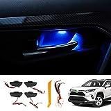 Mixsuper トヨタ RAV4 XA50型 ドアハンドル イルミネーション インナーハンドル LEDライト 室内ドアハンドル 雰囲気 ドレスアップ カスタムパーツ 内装パーツ 取付簡単 加工不要 カプラーON 超長寿命 (ブルー) (RAV4 MXAA50/AXAH50型, ブルー)