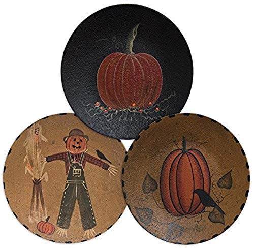 CWI Gifts 6' 3Pc Scarecrow Pumpkin Plate, 6', Multi