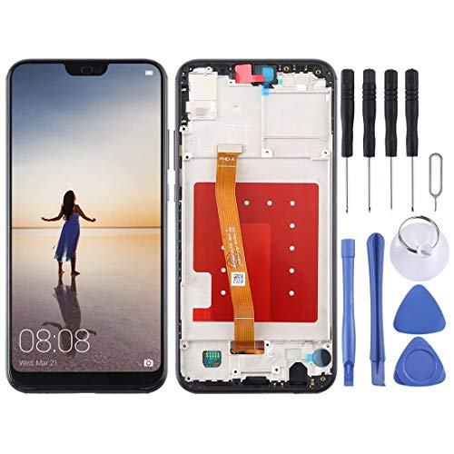 ELECTRONICS MobilePhone REPLACEMENT PART ZY LCD-scherm en Digitizer Volledige Vergadering met Frame for Huawei P20 Lite/Nova 3e (zwart) (Color : Black)