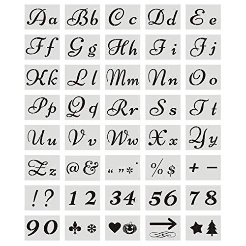 Zliger Buchstaben Schablonen Wiederverwendbare Kunststoff Buchstabenschablonenset Alphabet Schablonen Schriftschablone Schriftzug Schablone Dekorative Schablonen Für Gemälde Auf Holz Handwerk Wände