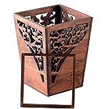 Tedyy - Cubo de basura de madera antigua para basura, cesta...