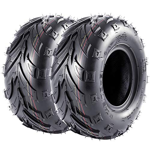 Pair of 2 VANACC Sport 145/70-6 (14x6-6) ATV Go-Kart Knobby Mini Bike Tires, 145x70-6 4 PR, Tubeless