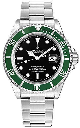 "Rolex Submariner Date""Kermit"" Black Dial Men's Diving Watch"