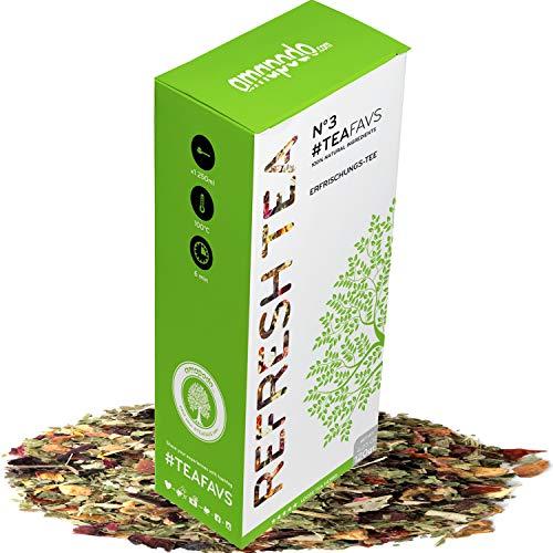 amapodo miscela di tè alla frutta 120g sano e delizioso, ideale per la teiera, prodotta in Germania
