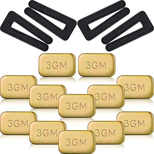 CHENYI Ventilador de compensación de clips, ventilador de techo con cuchilla, incluye 4 unidades de clip de compensación de ventilador de plástico y 12 unidades autoadhesivas de peso 3G de metal.