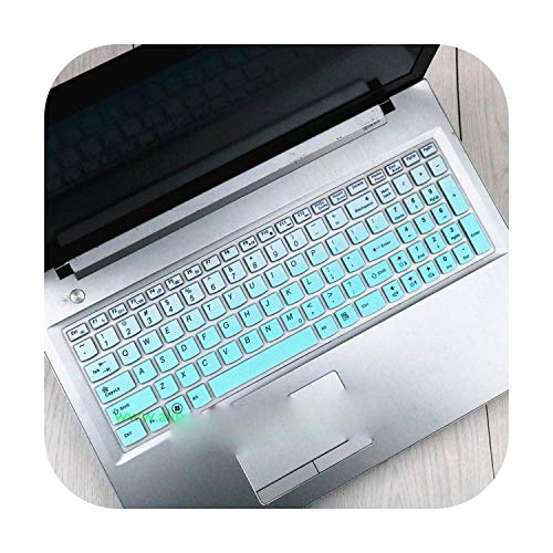 Keyboard Keyboard Cover Skin Protector For Lenovo G50 G50-30 G50-70 G50-80 G500 G500S G505 G505S G510 G570 G575 G770 G580 G585 Y570-Gradualskyblue-