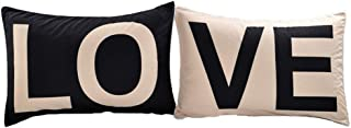 His and Hers Couples Pillowcases,2PCS LO&VE Pillow Cases,Romantic Couples Gifts for Valentines Christmas Anniversay Wedding Engagement,Love Birthday Gifts for Boyfriend Girlfriend Wife and Husband
