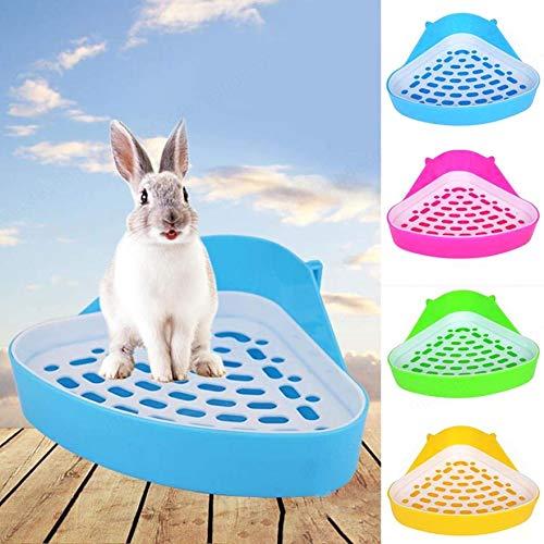 Sepikey Hamster Kleintier Dreieck Toilette Durable Pet Cavy Kaninchen Pee Corner Wurf Tablett - zufällige Farbe