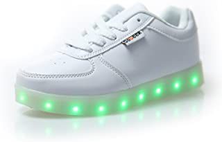 c6a1801a DoGeek Zapatos Led Niños Niñas Negras Blanco 7 Color USB Carga LED  Zapatillas Luces Luminosos Zapatillas