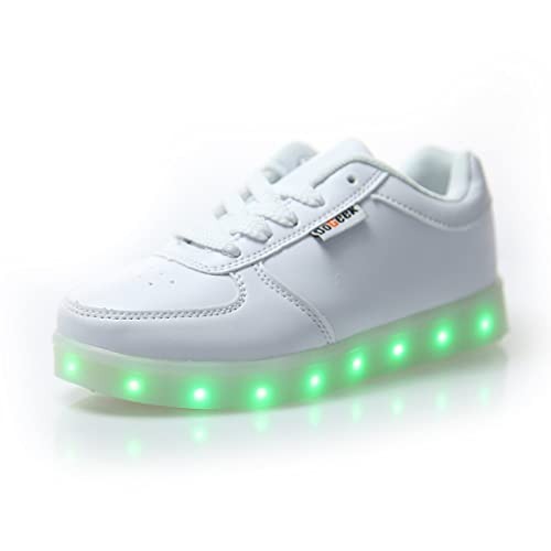 the latest e95d6 7c7e6 DoGeek - Led Shoes Light Up Trainers for Boys Girls - 7 Colors Light Up  Trainers