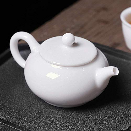 Yruog Tetera Tetera de cerámica Teteras Tetera de cerámica Juego de té de porcelana blanca Tetera de cerámica Olla individual Juego de té individual Tetera de cucharada de piedra para el hogar -