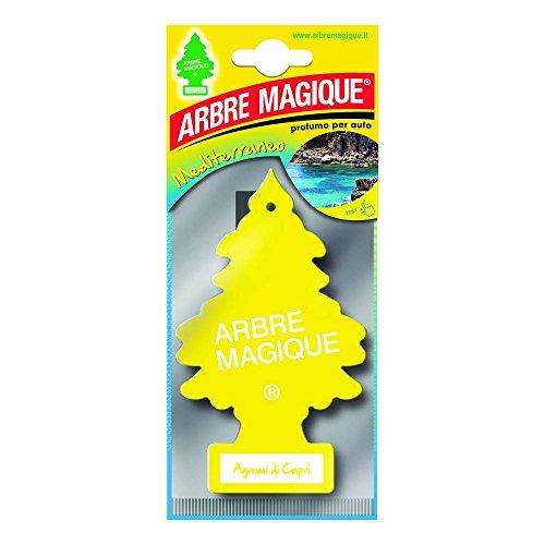 Arbre Magique Mono, Deodorante Auto, Fragranza Agrumi di Capri, Profumazione Prolungata fino a 7 Settimane