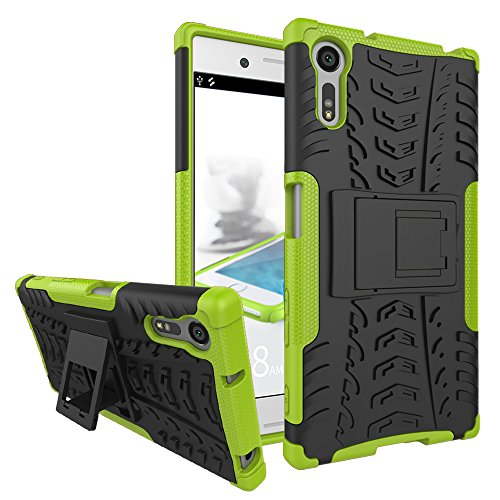 Jielangxin Funda para Sony Xperia XZ,Teléfono con Soporte a Prueba de Golpes Funda para Sony Xperia XZ F8331 F8332 Carcasa Case Funda Green