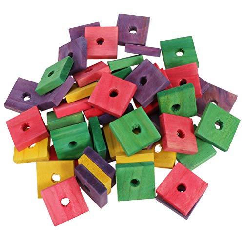 100 stuks papegaai houten clip speelgoed vogel spelen speelgoed papegaaienbeet speelgoed (gemengde kleur)