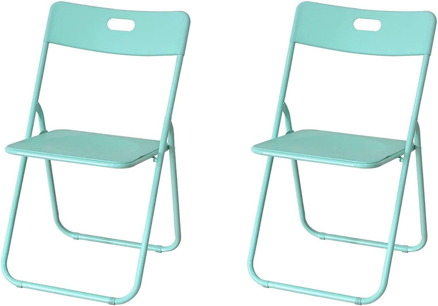 Folding Stool, Dining Chair Folding Computer Chair Office Home Meeting Training Seat Two Packs (79×46×45cm) (color   Green)