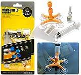 Randalfy Kit de reparación Parabrisas automóvil hágalo Usted Mismo con jeringas de presión para astillas de Vidrio de automóvil, Grietas, Diana, en Forma de Estrella y Grietas en Forma de Media Luna