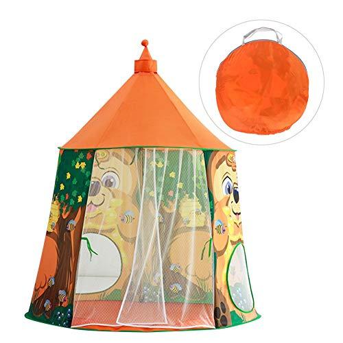 Castillo, tienda de campaña, seguridad, no tóxico, casa de juegos para bebés de alta calidad, duradera para el hogar, juegos de billar, espacio privado para niños(Orange)