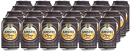 Amstel Gold Beer - Box of 24 Cans x 330 ml - Total: 7.92 L