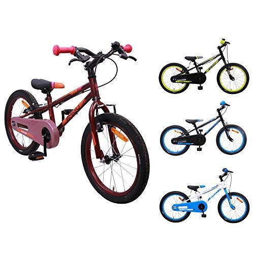 AMIGO Cross - Kinderfahrrad - 18 Zoll - Mädchen - Mit Vorder- und Hinterradbremse - ab 5 Jahre - Rot/Rosa