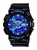 Casio Men's XL Series G-Shock Quartz 200M WR Shock Resistant Resin Color:Black, Blue and Purple (Model GA-110HC-1ACR)