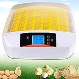 Brutmaschine Vollautomatisch 56 Hühner Eier Brutgerät, Intelligent Brutautomat Motorbrüter mit LED Temperatur & Feuchtigkeitsregulierung, Grosse Brutkästen Egg Incubator für Hühnereier, usw