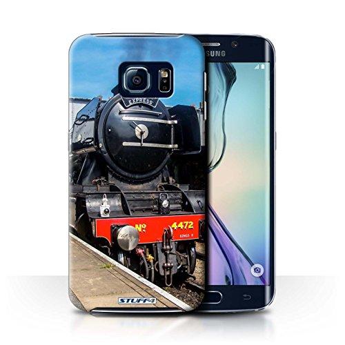 STUFF4 Telefoonhoesje/Cover voor Samsung Galaxy S6 Edge/Scotsman/Platform Design/Steam Locomotive Collection