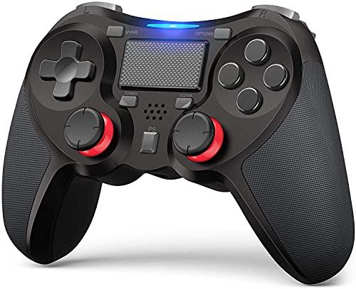 AQCTIM Mando para PS-4,Mando de Joystick inalámbrico bluetooth PS-4/Pro/Slim/PC,6-Ejes/Vibración Dual/Panel Táctil/Macro Programable,Audio Funktion Gamepad Controller