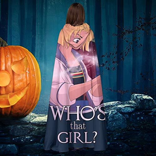 AISFGBJ Whos That Girl Jodie Whittaker Trece Doctor Who Unisex Navidad Halloween Bruja Caballero con Capucha Albornoz Vampiros Capa Cosplay Disfraz