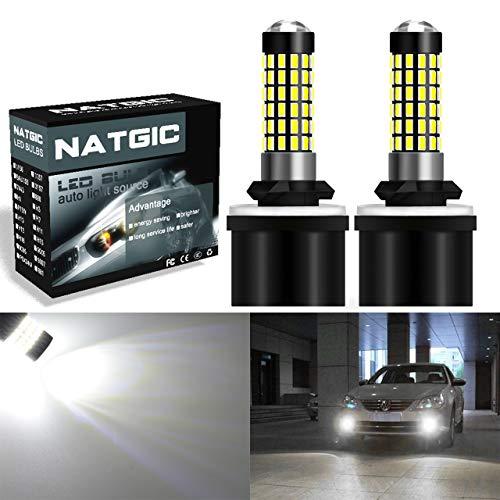NGCAT 880 886 H27 890 892 Bombilla LED 900LM 3014SMD 78-EX Chipsets con proyector de lentes usados para lámpara de niebla con luz antiniebla, Xenon White 6500K, 12-24V 4W
