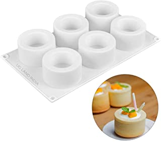 UG LAND INDIA 6 Holes 3D Round Mousse Mold Small Cake Candle Dessert Pudding Cup Silicone Mold
