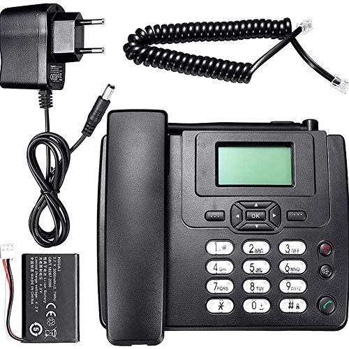 ZHIRCEKE Teléfono de hotfix con Tarjeta SIM, para el Escritorio, para el hogar, en la Oficina, Especialmente para Personas Mayores, línea Fija inalámbrica