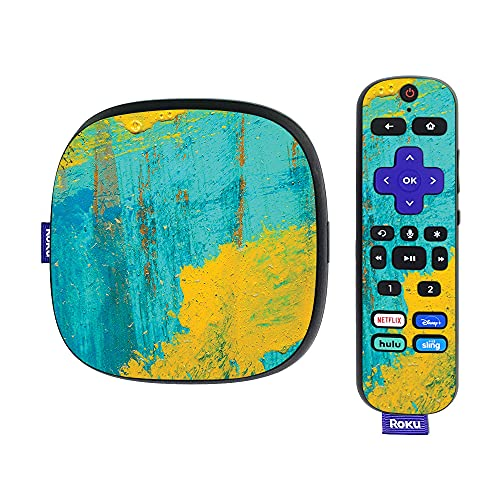 MightySkins Skin Compatible with Roku Ultra HDR 4K Streaming Media Player (2020) - Acrylic Blue | Protective, Durable, and Unique Vinyl Decal wrap Cover | Easy to Apply and Change Styles | Made in th