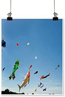 for Home Decoration Multicolore Kites Against a Clear Blue Sky for Home Decoration No Frame,28
