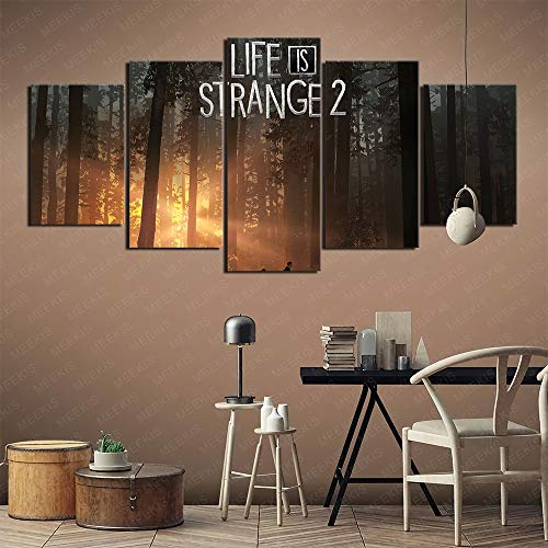 CAFO Life is Strange 2 Life is Strange 2 HD Printed Painting 5 Panel Conference Decoration 100x50cm Frameless