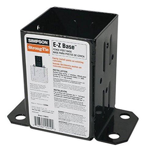 Simpson Strong Tie FPBB44 Black Powder-Coated 12-Gauge E-Z Base 10-per Box