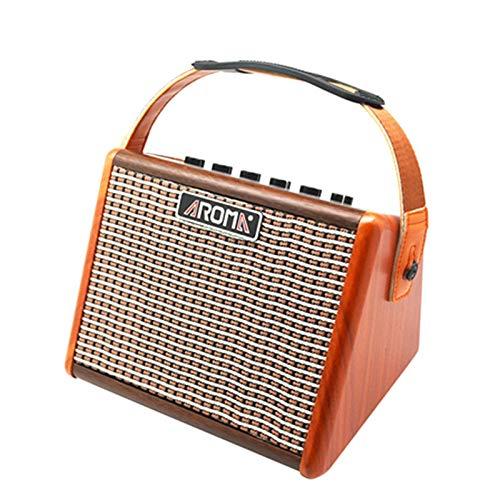 ZJH Amplificador Amplificador de Guitarra Acústica Portátil de 15 W, Amplificador de...