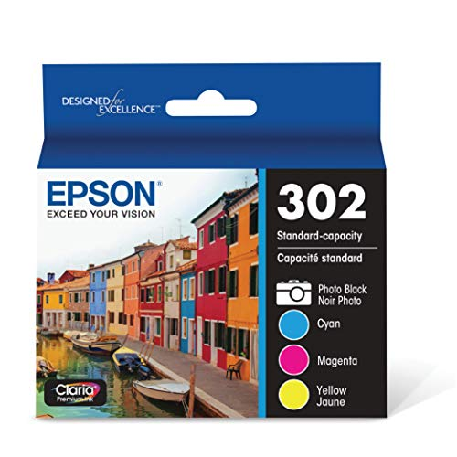 EPSON T302 Claria Premium Ink Standard Capacity Color Combo Pack (T302520-S) for Select Epson Expression Premium Printers