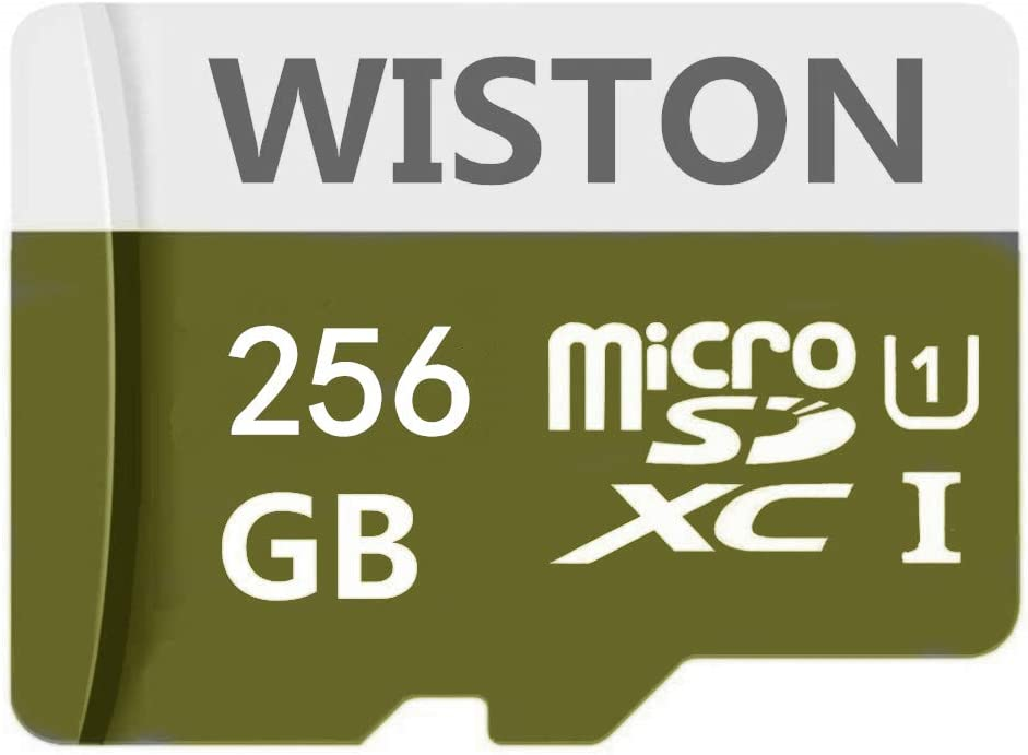 256GB Micro SD Card High Speed Class 10 SDXC Memory Card with SD Adapter