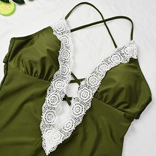 heekpek Sexy Imbottito Costumi da Bagno Intero Push Up per Donna Un Pezzo Costumi da Bagno Modellante a Profondo V Costumi Elegante Monokini
