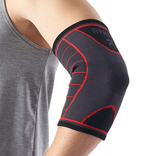 Elbow Support Sleeve for Men and Women Single Sleeve Large L Support for Tennis Elbow Golfers Elbow Weightlifting Tendonitis Joint Pain Relief Arthritis