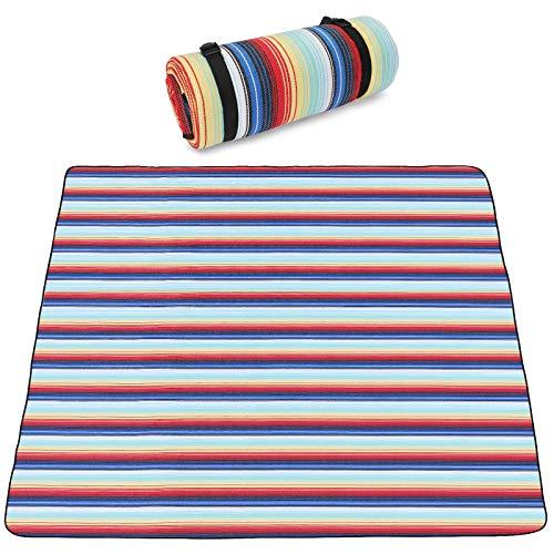 SKYSPER Picknickdecke Wasserdichter Isolierte Picknickmatte 200x200CM Feuchtigkeitsbeständige Stranddecke Campingdecke Outdoor Faltbare Picknick Decke Weich Tragbar mit Griff
