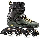 Rollerblade RB 80 Pro Skates Black,Adults Unisex, Black/Dark Green, 240