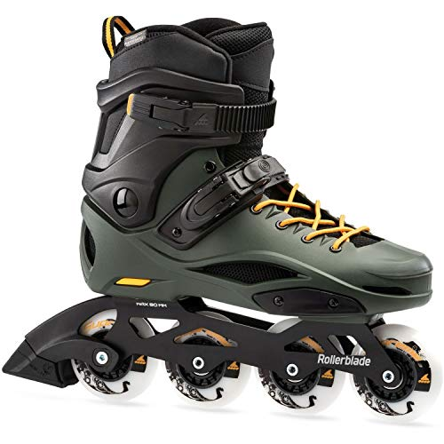 Rollerblade RB 80 Pro Patines Negro, Adultos Unisex, Black/Dark Green, 270