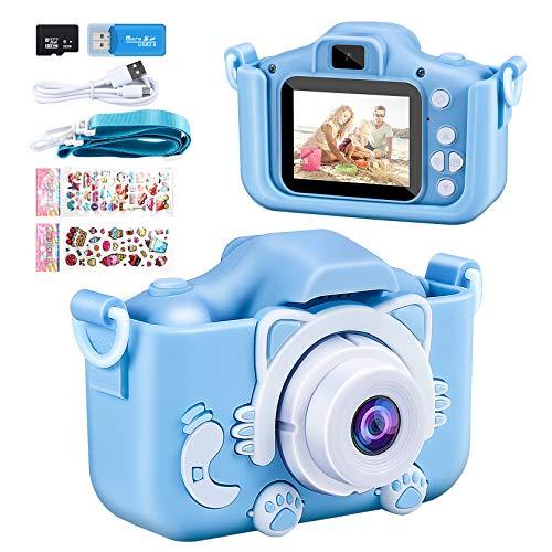 Cámara para Niños ,Yosemy Infantil Cámara de Fotos Pantalla HD de 2 Pulgadas 1080P Tarjeta de 32GB TF,Regalos de Juguete para Niños de 3 a 12 años de Niños y Niñas Cumpleaños