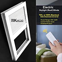 "Motorized Skylight Roof Window Cellular Honeycomb Blackout Blinds Curtain,Website Price=(1pc,Motorized Control,Size:39"" W ..."